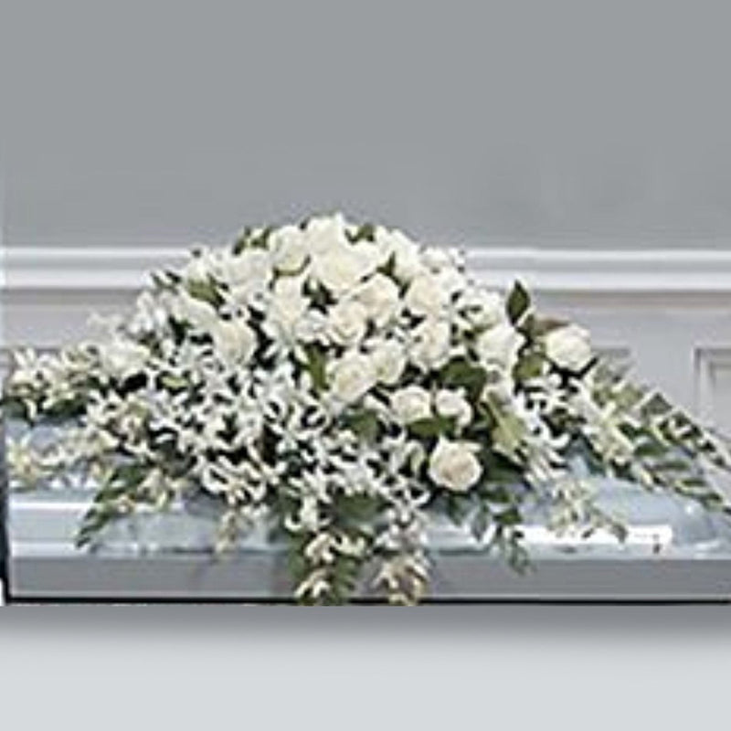 Flower Delivery Florist Funeral Sympathy Naples Peaceful Spirit Casket Spray