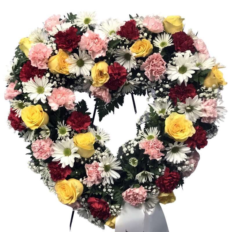 Flower Delivery Florist Funeral Sympathy Naples Pink Friendship Heart