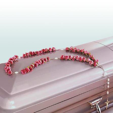 Flower Delivery Florist Funeral Sympathy Naples Pink Half Rosary