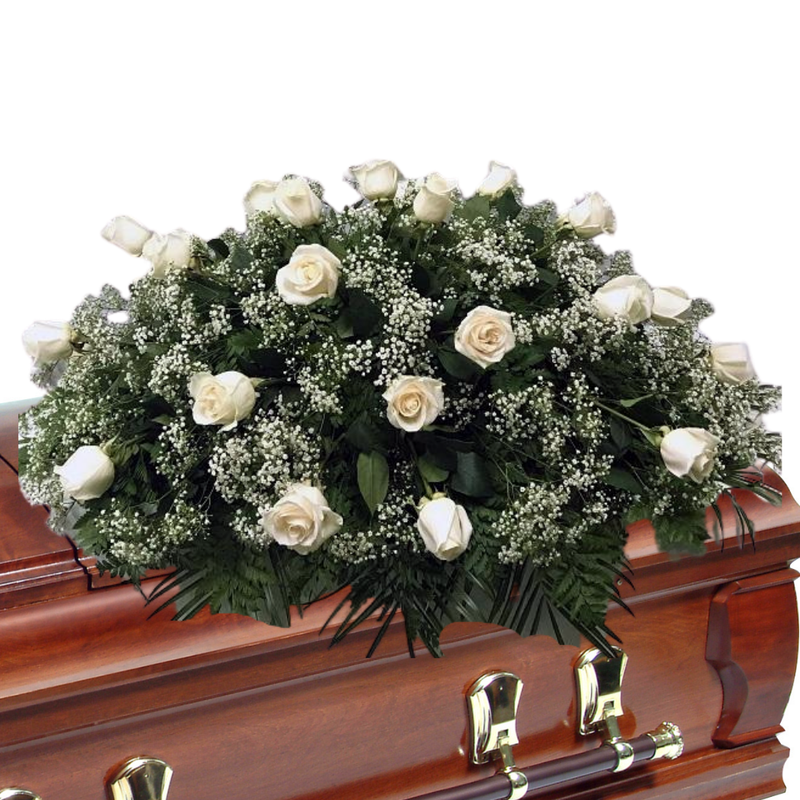Flower Delivery Florist Funeral Sympathy Naples Pure Love Casket Spray