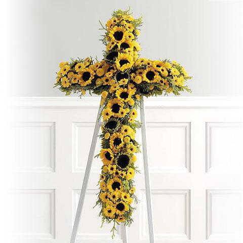 Flower Delivery Florist Funeral Sympathy Naples Radiant Cross