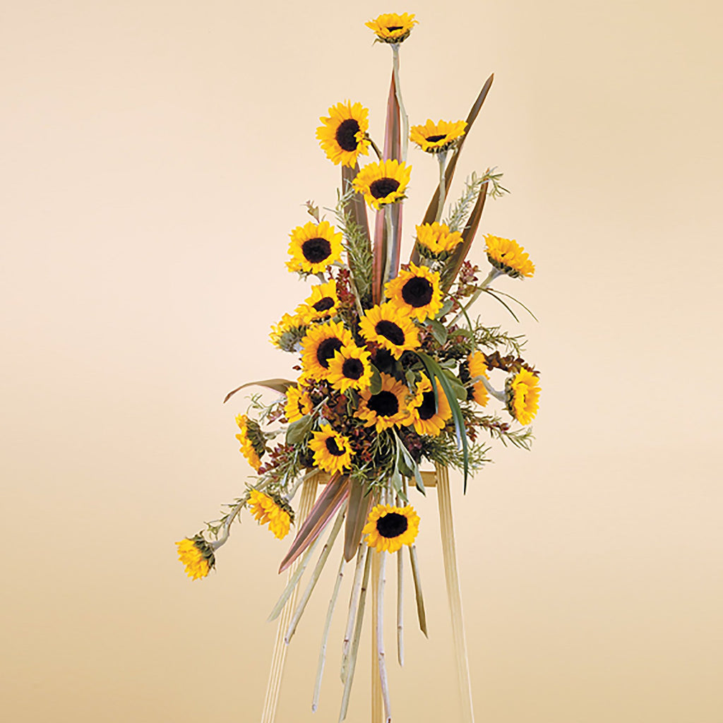 Flower Delivery Florist Funeral Sympathy Naples Radiant Sunflower Spray