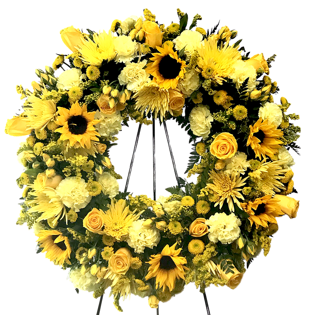Flower Delivery Florist Funeral Sympathy Naples Radiant Wreath