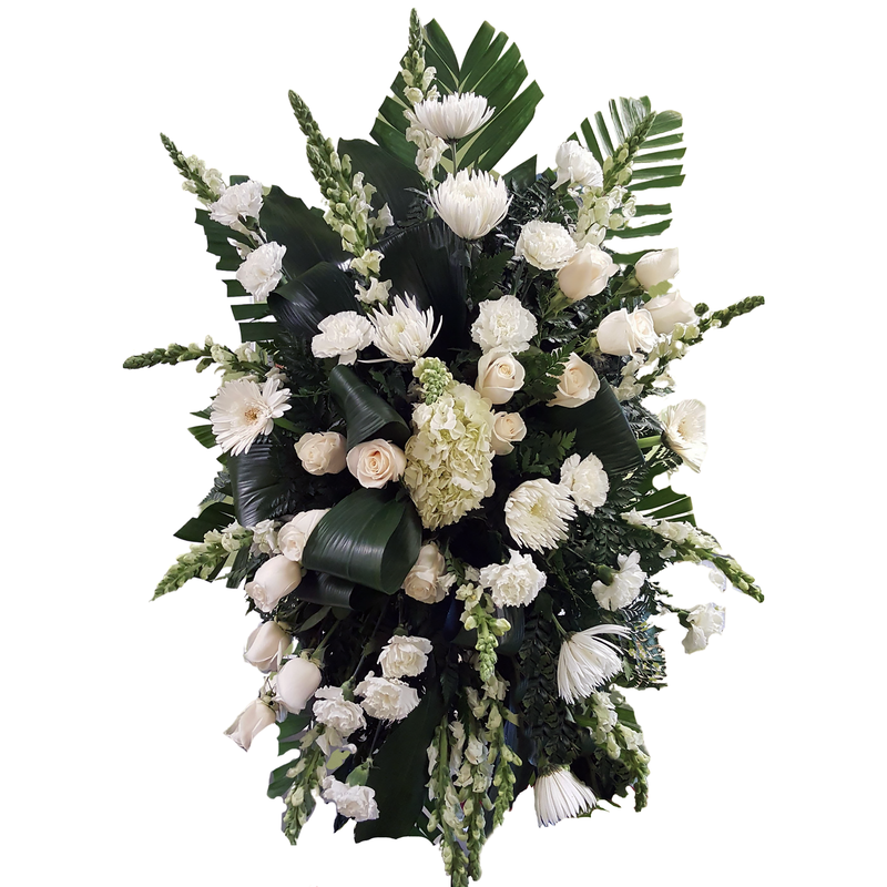Flower Delivery Florist Funeral Sympathy Naples Serenity Standing Spray