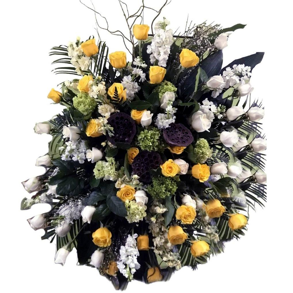 Flower Delivery Florist Funeral Sympathy Naples Standing Spray Natures Friendship