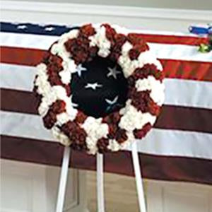 Flower Delivery Florist Funeral Sympathy Naples Stars And Stripes Wreath