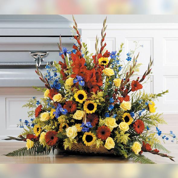 Flower Delivery Florist Funeral Sympathy Naples Summer Fields Basket