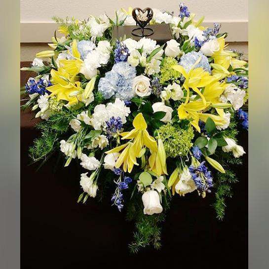 Flower Delivery Florist Funeral Sympathy Naples Sunny Provence Urn Spray