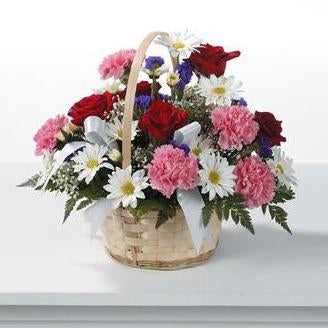 Flower Delivery Florist Funeral Sympathy Naples Thinking Of You Basket