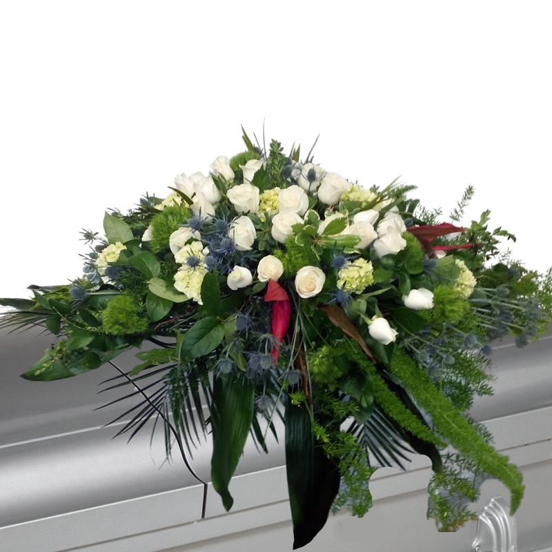 Flower Delivery Florist Funeral Sympathy Naples Thistle Garden Casket Spray