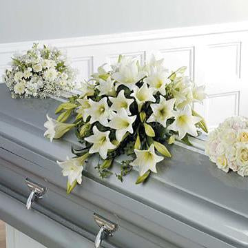 Flower Delivery Florist Funeral Sympathy Naples Trinity Casket Spray