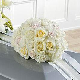 Flower Delivery Florist Funeral Sympathy Naples Trinity Rose Ball Casket Spray