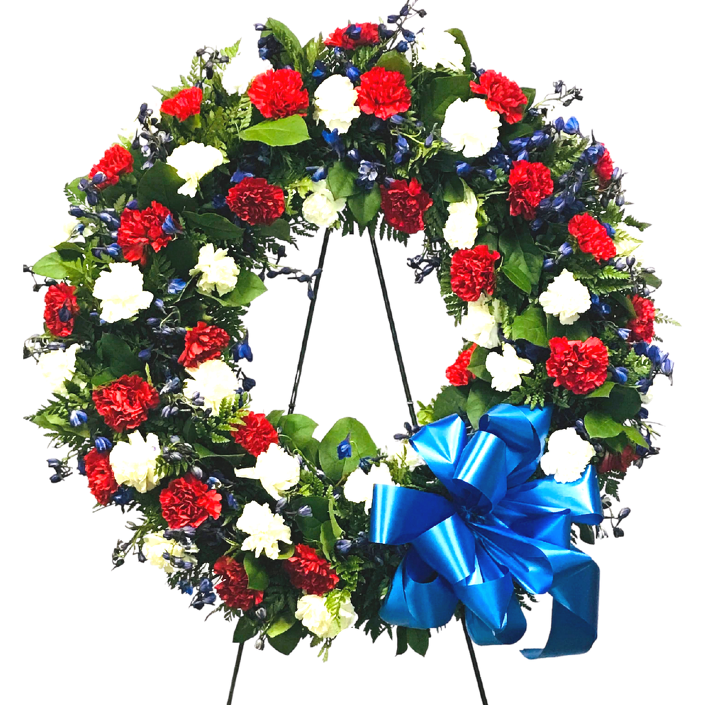Flower Delivery Florist Funeral Sympathy Naples Veterans Memorial Wreath