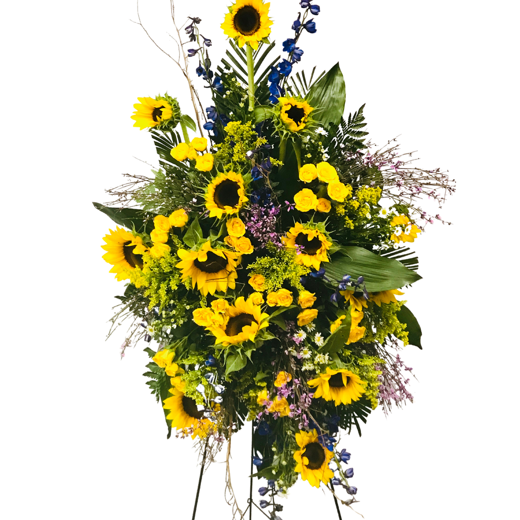 Flower Delivery Florist Funeral Sympathy Naples Wild Sunflower Standing Spray
