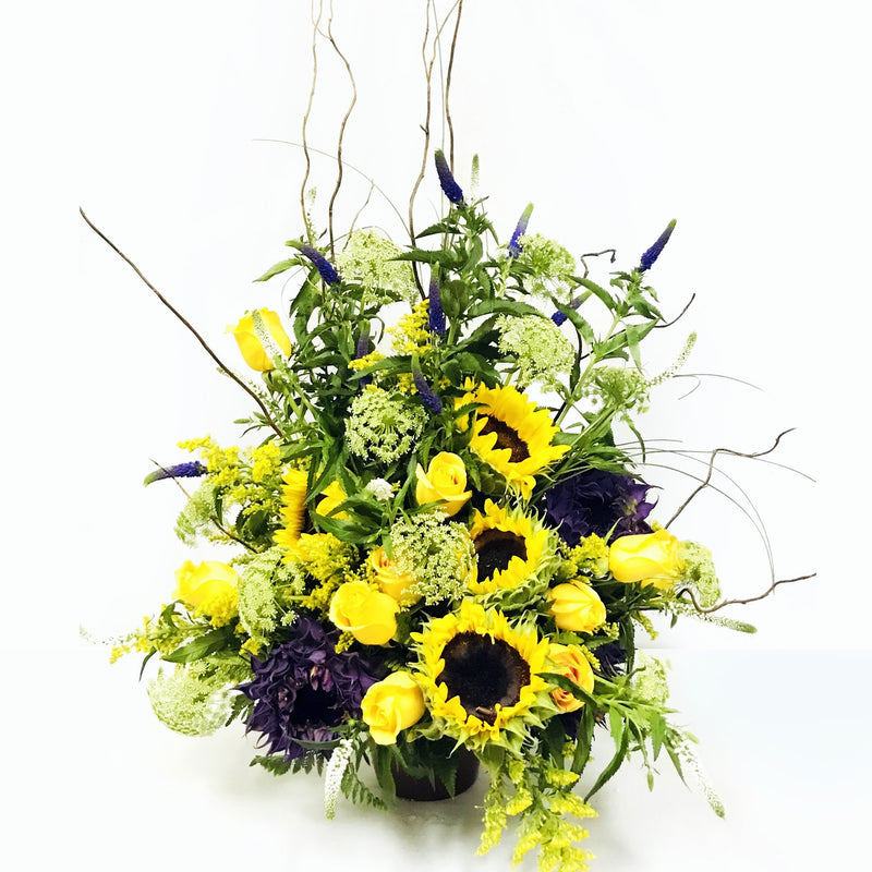 Flower Delivery Florist Funeral Sympathy Naples Wildflower Memories Basket