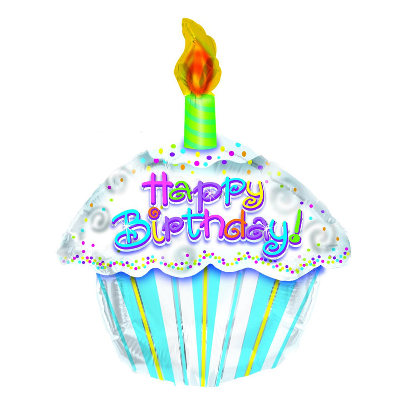 Flower Delivery Florist Same Day Naples 1 Happy Birthday Cupcake Balloon.Jpg