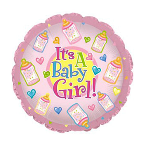 # 45 It's A Girl Baby Bottles Balloon