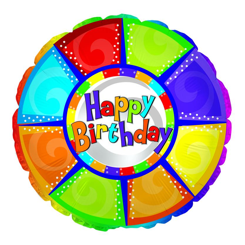 Flower Delivery Florist Same Day Naples 4 Happy Birthday Colorful Pieces Balloon.Jpg