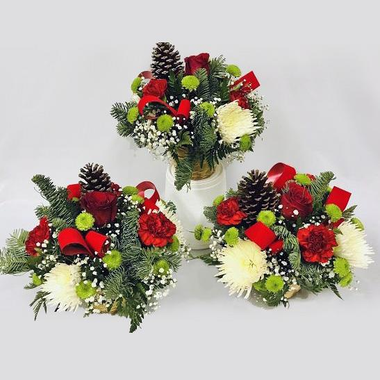 Flower Delivery Florist Same Day Naples Christmas Trio