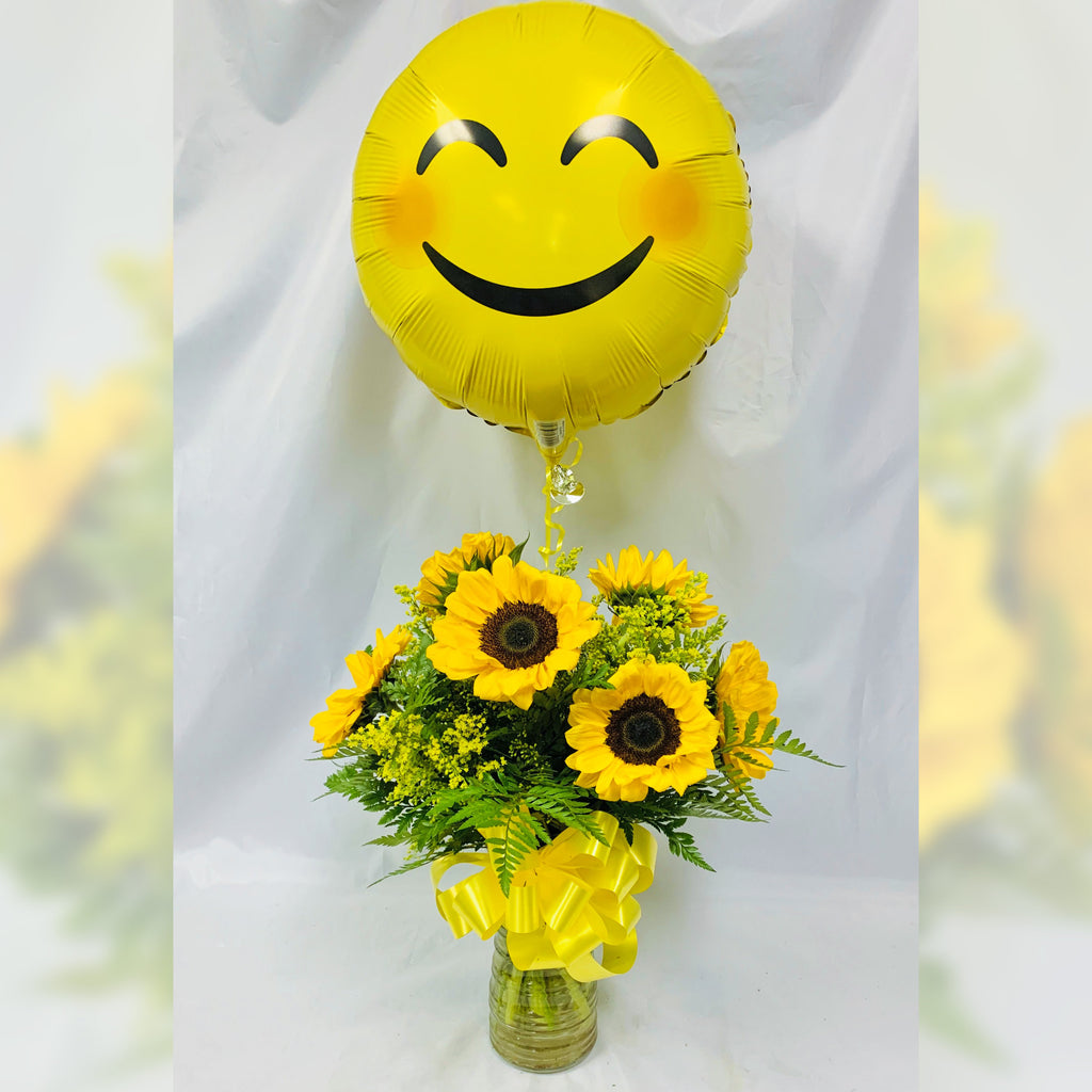 Flower Delivery Florist Same Day Naples Happy Day Sunflowers