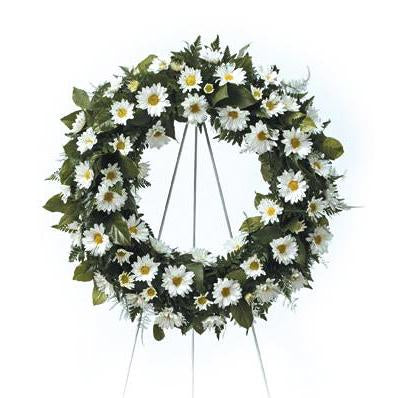Flower Delivery Florist Same Day Naples Soothing Daisy Wreath