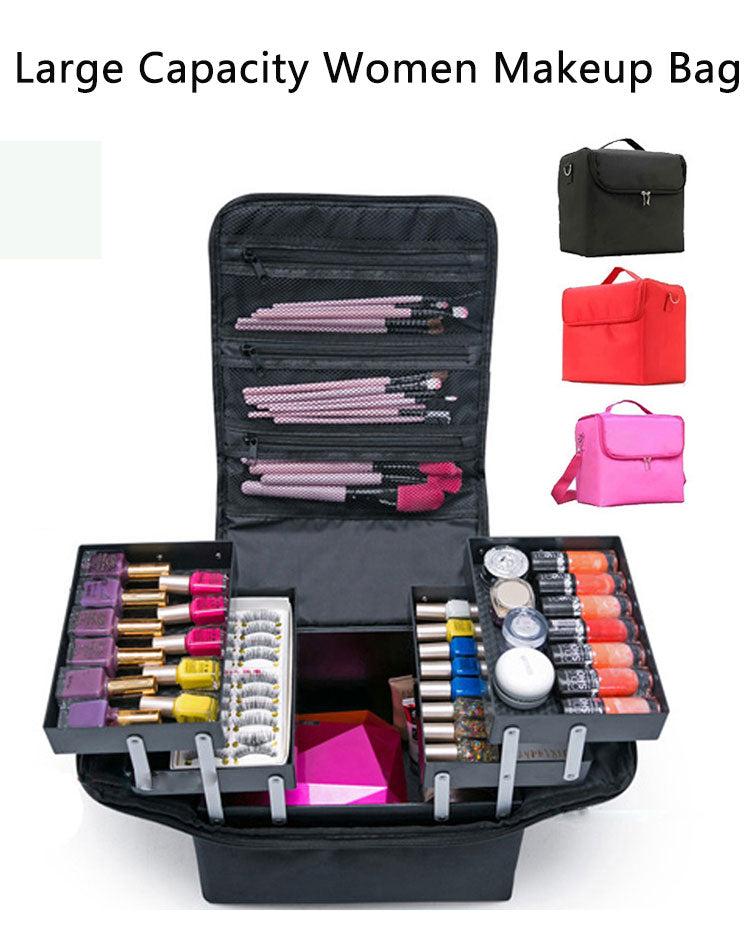 Multilayer Cosmetic Bag Case