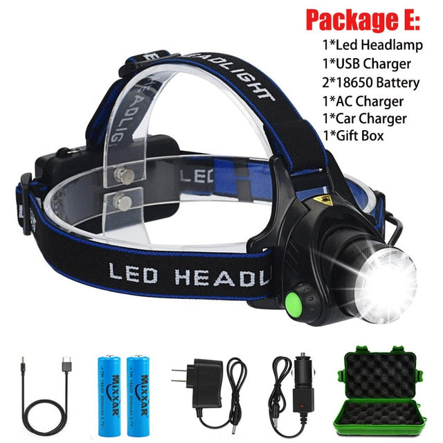 Headlamp Rechargeable Head Lamp