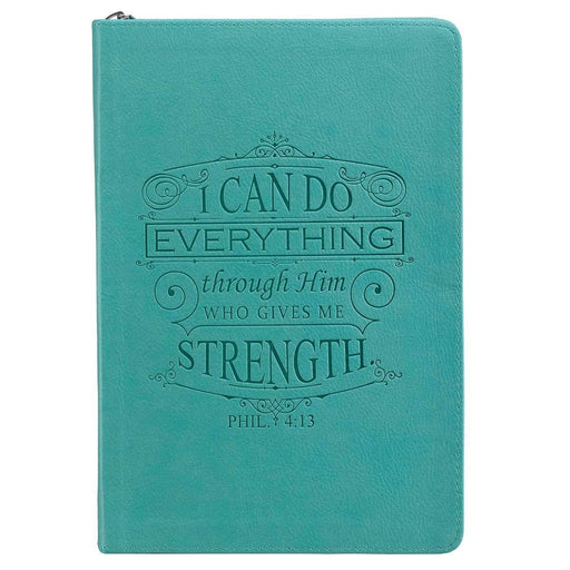 Libreta Journal Classic Zip Teal - Filip 4:13 - Coffee & Jesus