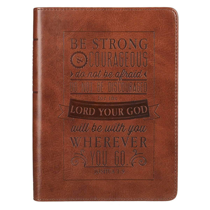 Libreta Be Strong & Courageous - Coffee & Jesus