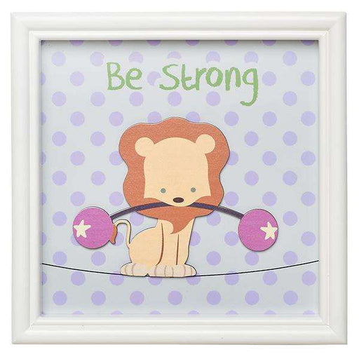 Be Strong Lion, Children's Wall Art - Cuadro - Coffee & Jesus