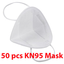 Load image into Gallery viewer, 1 Box KN95 50Pcs Respirator Anti Pollution Bacteria Viruses Mask with N95 Filters
