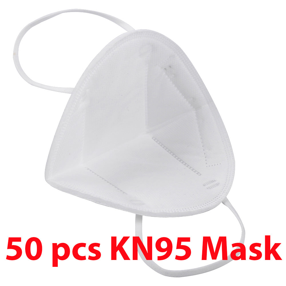 1 Box KN95 50Pcs Respirator Anti Pollution Bacteria Viruses Mask with N95 Filters