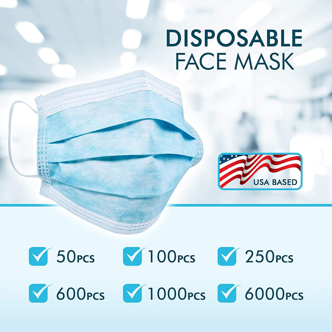 50 pieces Disposable Face Mask FDA CE Approved