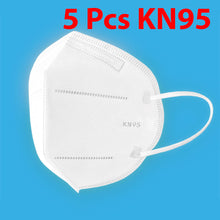 Load image into Gallery viewer, 5 Pcs KN95 Respirator Anti Pollution Bacteria Viruses Mask with N95 Filters