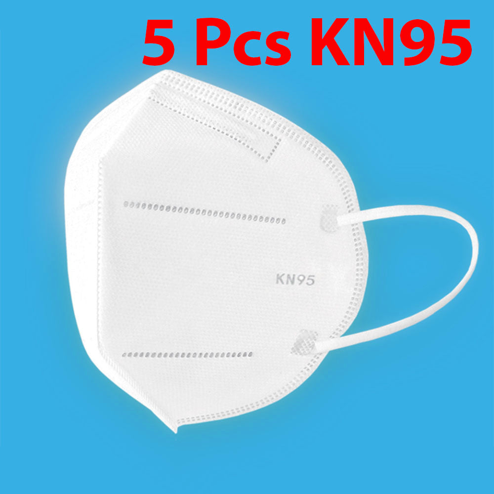 5 Pcs KN95 Respirator Anti Pollution Bacteria Viruses Mask with N95 Filters