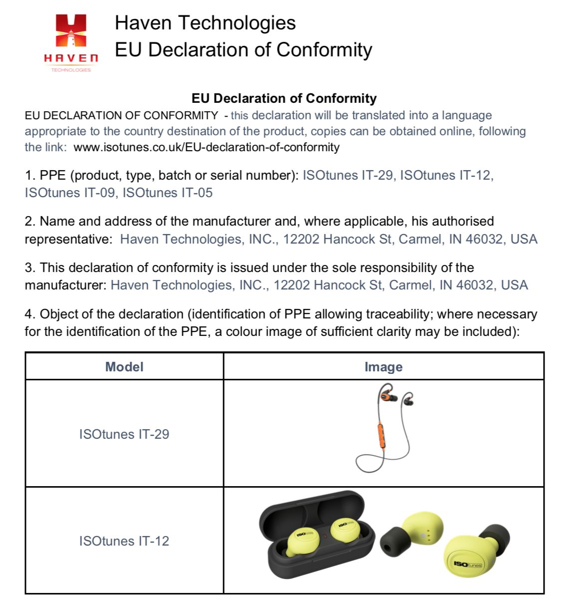 EU Declaration of Conformity Page 1