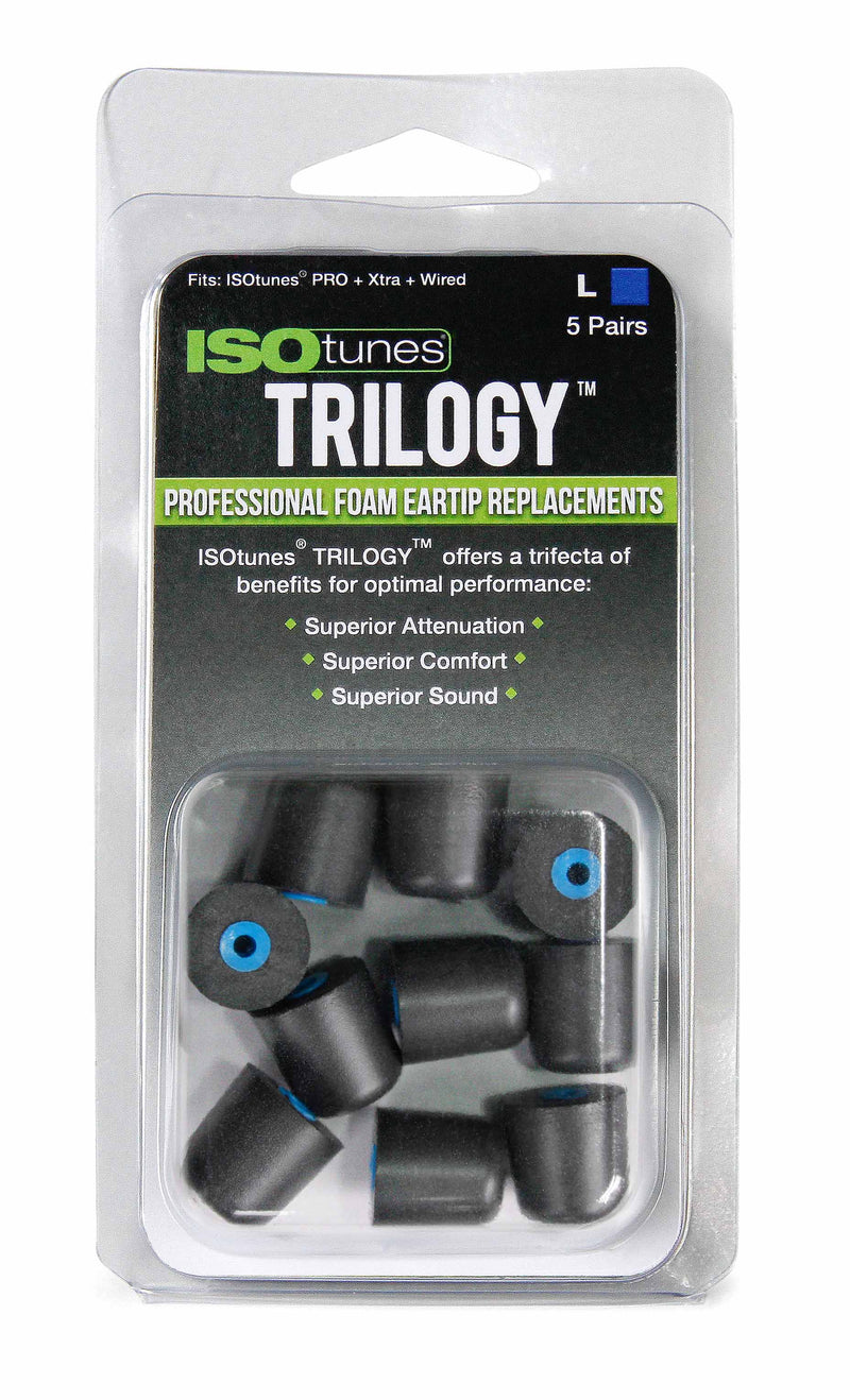 ISOtunes TRILOGY™ Foam Replacement Eartips (5 pair pack)