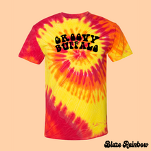 Load image into Gallery viewer, Blaze Rainbow Tie-Dye T-Shirt Groovy Buffalo
