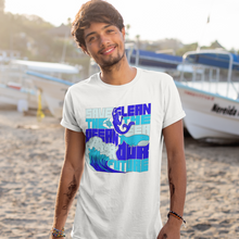 Load image into Gallery viewer, White Save the ocean hippie t shirt