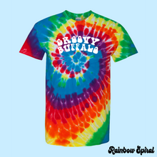 Load image into Gallery viewer, Rainbow Spiral Tie-Dye T-Shirt Groovy Buffalo