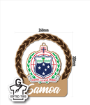 Plaque - Samoan Patterned Coat of Arms