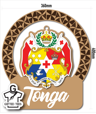 Plaque - Tongan Patterned Coat of Arms