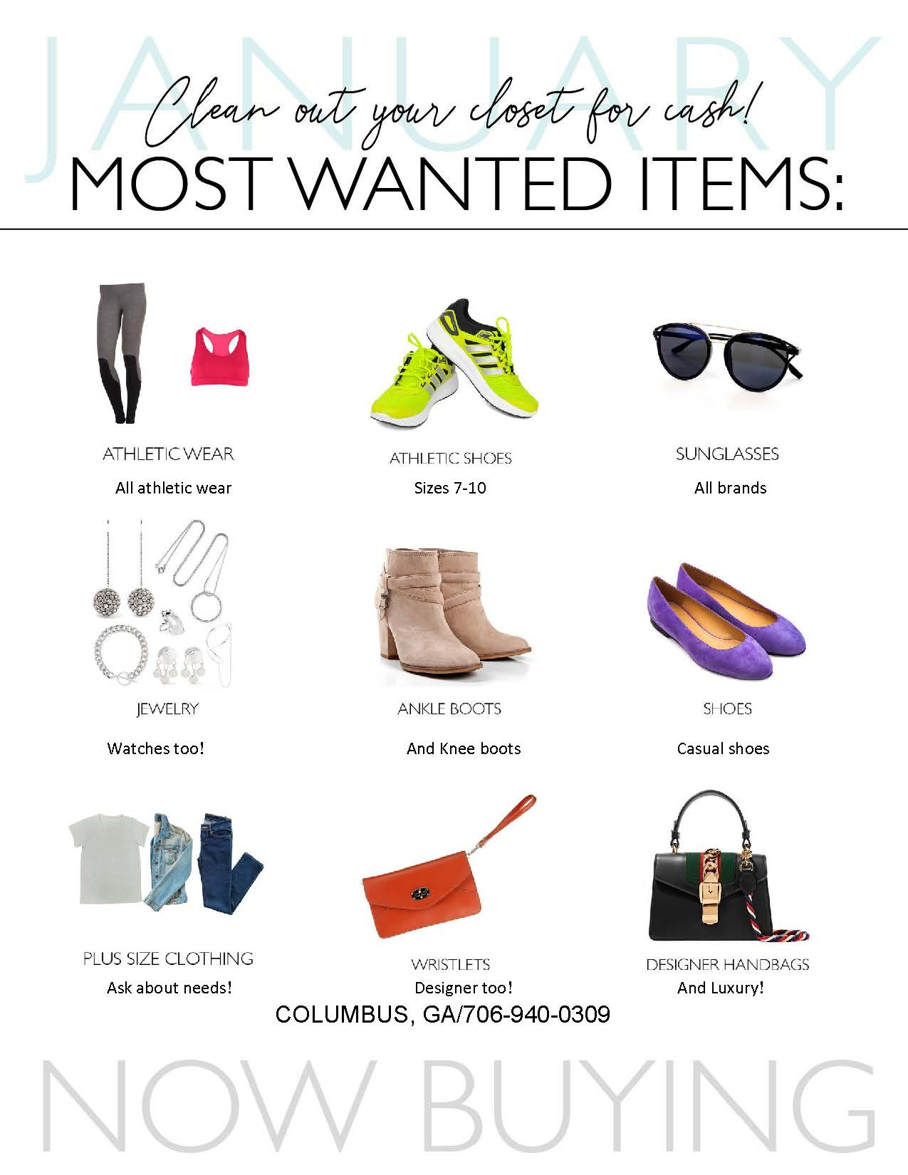 Clothes Mentor January Most Wanted Items