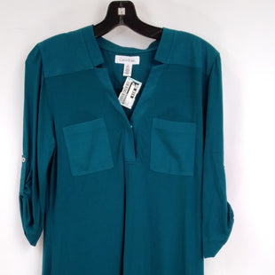 Primary Photo - BRAND: CALVIN KLEIN STYLE: TOP LONG SLEEVE COLOR: TEAL SIZE: S SKU: 240-24052-56790