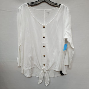 Primary Photo - BRAND: ANN TAYLOR LOFT STYLE: TOP LONG SLEEVE COLOR: WHITE SIZE: L SKU: 240-24052-48600