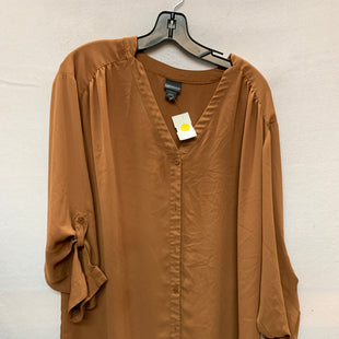 Primary Photo - BRAND: COVINGTON STYLE: TOP LONG SLEEVE COLOR: BROWN SIZE: 2X SKU: 240-24052-45764