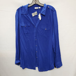 Primary Photo - BRAND: CATO STYLE: TOP LONG SLEEVE COLOR: BLUE SIZE: 1X SKU: 240-24093-475