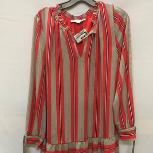 Primary Photo - BRAND: ANN TAYLOR LOFT STYLE: DRESS SHORT LONG SLEEVE COLOR: RED BLACK SIZE: L SKU: 240-24049-51630
