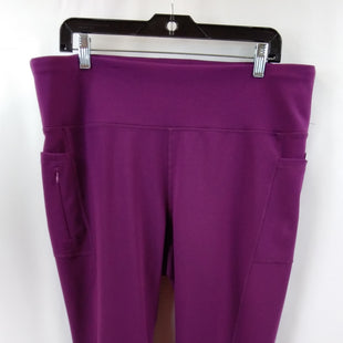 Primary Photo - BRAND: ADRIENNE VITTADINI STYLE: ATHLETIC CAPRIS COLOR: PLUM SIZE: 2X SKU: 240-24052-58008