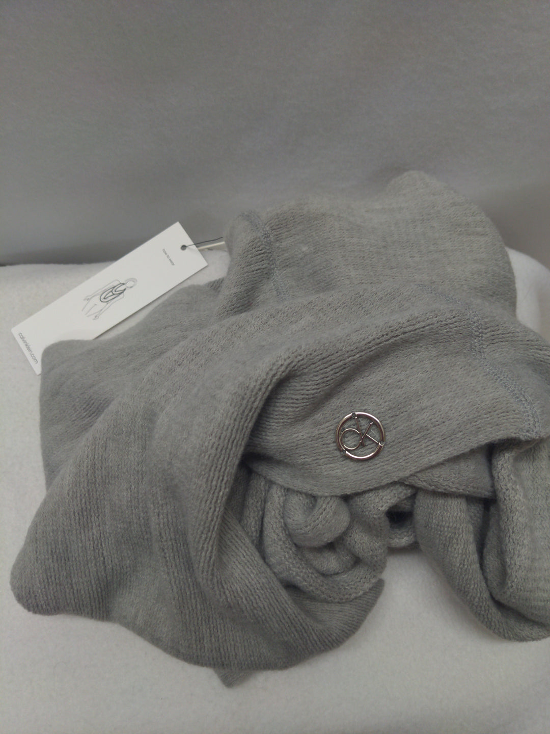 Primary Photo - BRAND: CALVIN KLEIN <BR>STYLE: SCARF WINTER <BR>COLOR: GREY <BR>SKU: 240-24091-4704